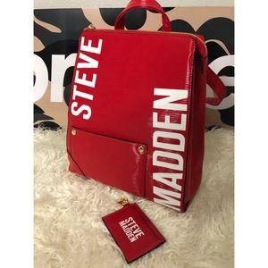 Steve Madden BHART Red Backpack *PRICE FIRM*
